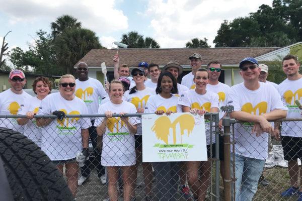 Tampa office volunteering