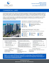 Orchid Insurance Commercial Sell Sheet