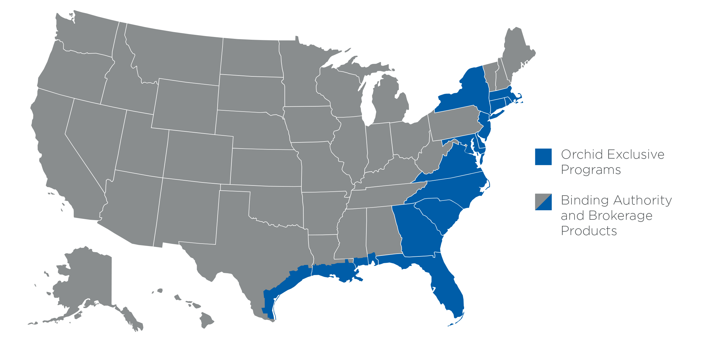 Orchid Insurance Commercial Footprint