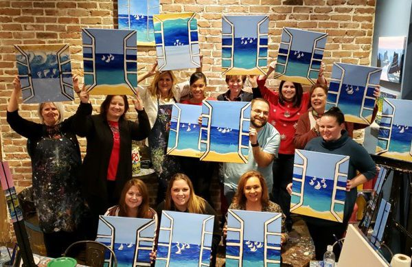 Peabody's holiday celebration with a Paint & Sip event