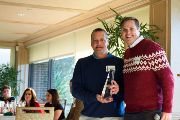 Chad Gibbons was awarded for his 15 years of service to Orchid